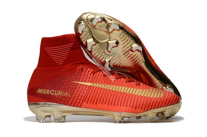 Nike Mercurial Superfly V FG - Red/Gold
